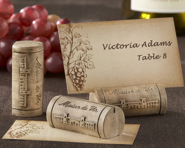 <center>Wine Cork Place Card / Photo Holder (Set of 4)</center>